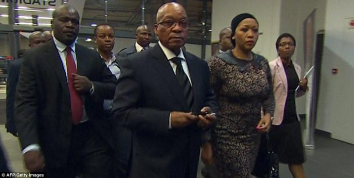 Successor: Jacob Zuma, the current president of South Africa, gave the keynote speech during the ceremony