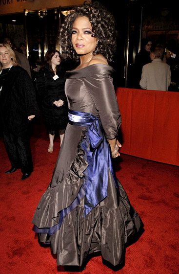 December 2005: Winfrey premiered her Broadway hit The Color Purple in New York City. (Photo Credit: Jemal Countess/WireImage.com)