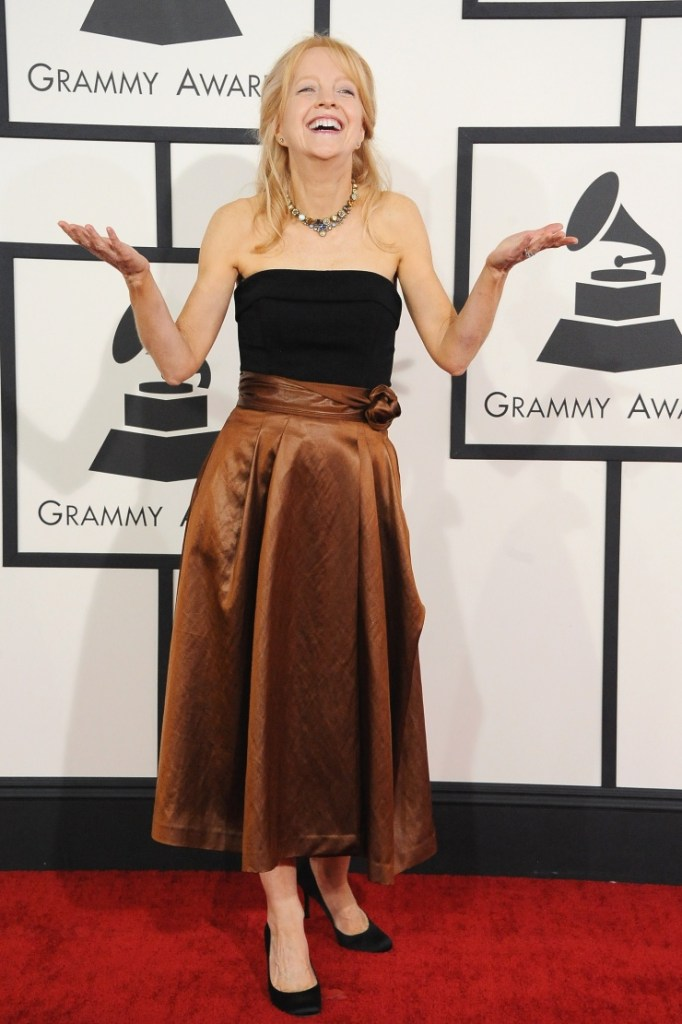Nominee Maria Schneider arrives at the 56th Annual GRAMMY Awards on Jan. 26 in Los Angeles (Photo Credit: Steve Granitz/WireImage.com)