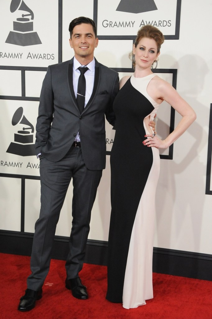 Best Remixed Recording, Non-Classical nominee Andy Caldwell and Esme Bianco arrive at the 56th Annual GRAMMY Awards on Jan. 26 in Los Angeles (Photo Credit: Steve Granitz/WireImage.com)