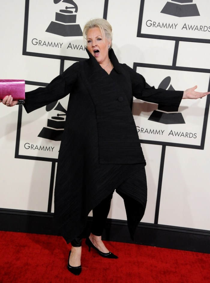Best Opera Recording nominee Linda Watson arrives at the 56th Annual GRAMMY Awards on Jan. 26 in Los Angeles (Photo Credit: Steve Granitz/WireImage.com)