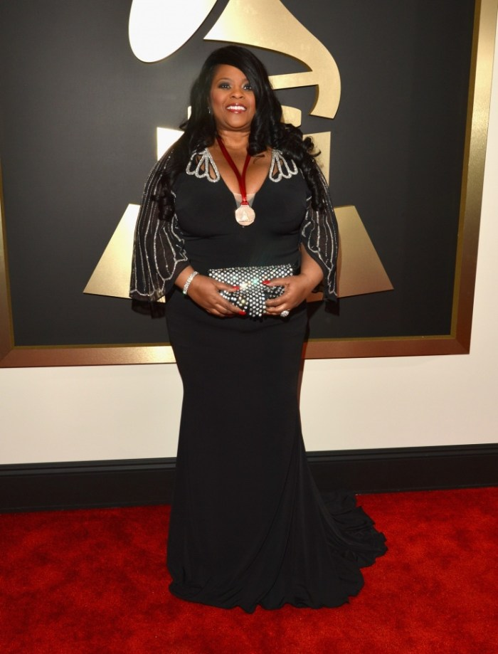 GRAMMY nominee Maysa arrives at the 56th Annual GRAMMY Awards on Jan. 26 in Los Angeles (Photo Credit: Lester Cohen/WireImage.com)