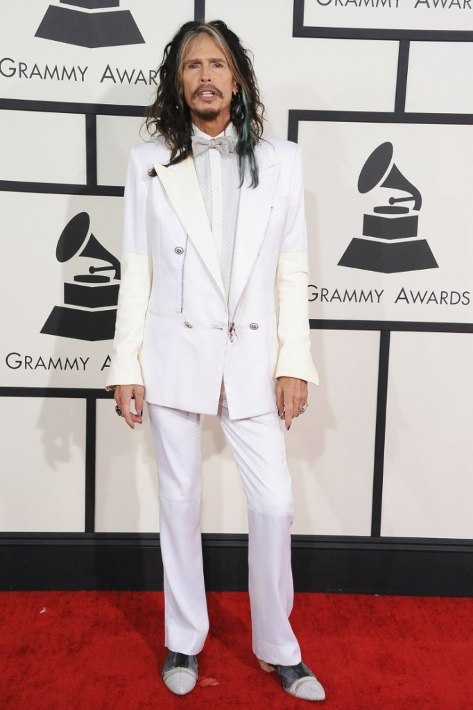 Steven Tyler arrives at the 56th Annual GRAMMY Awards on Jan. 26 in Los Angeles (Photo Credit: Steve Granitz/WireImage.com)