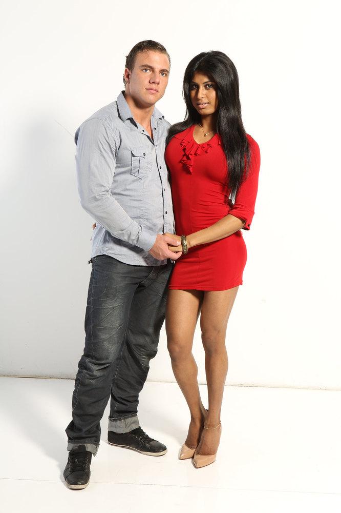 Amelia pictured with boyfriend