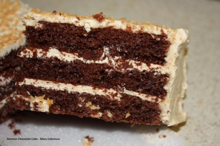 Yummy: A slice of world famous German chocolate cake