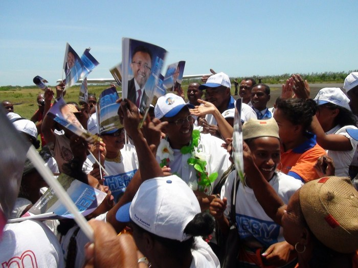 Hery Rajaonarimampianina, President Elect of Madagascar on the campaign trail (Photo Credit: Getty Images/New York Times)