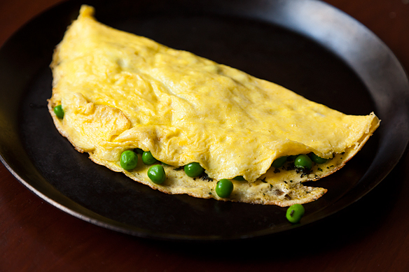 Petite Pea Omelet