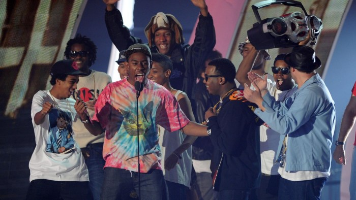 Odd Future receiving an award