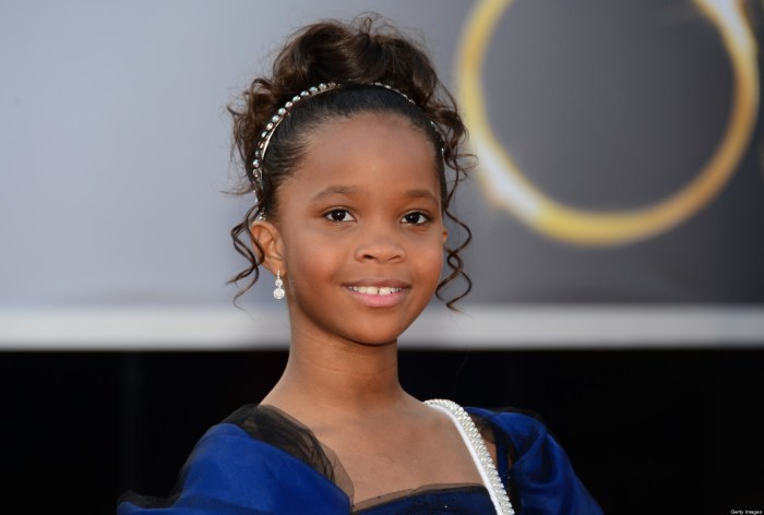 Best Actress nominee Quvenzhané Wallis arrives on the red carpet for the 85th Annual Academy Awards on February 24, 2013 in Hollywood, California. (Photo Credit: AFP PHOTO/FREDERIC J. BROWN)