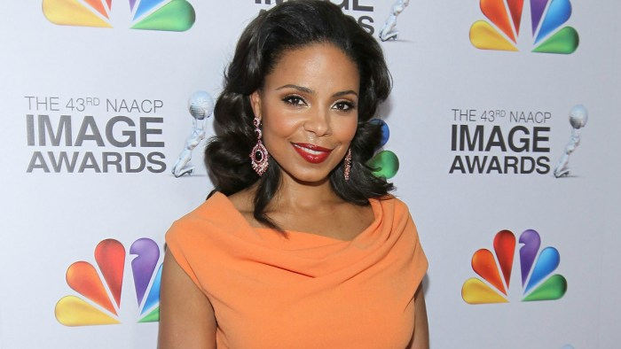 Sanaa Lathan arrives at the 43rd NAACP Image Awards held at The Shrine Auditorium on February 17, 2012 in Los Angeles, California.