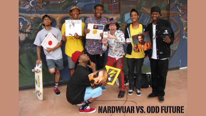 Members of the group pictured for Nardwuar