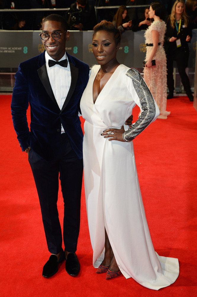 Tinie Tempah (in Burberry) and Laura Mvula