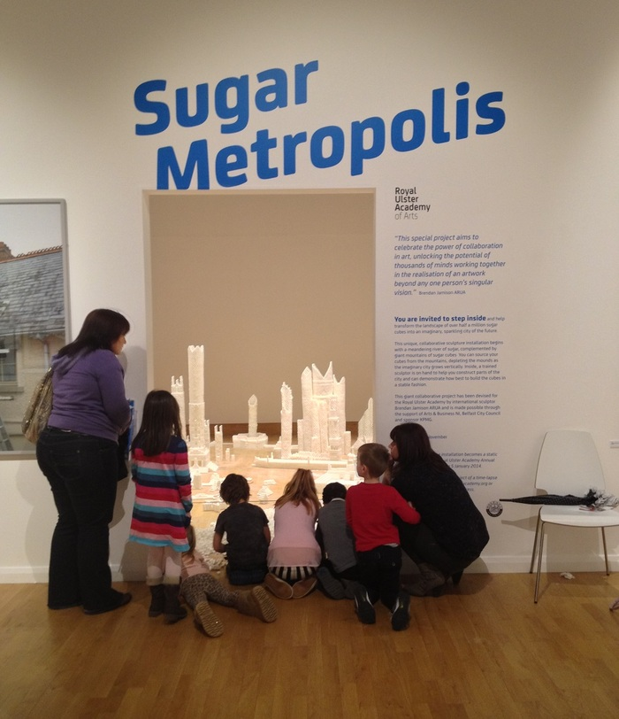 Children entering the Northern Ireland version of Sugar Metropolis (Photo Credit: Project On Kickstarter)