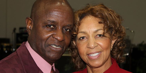 Bishop Bobby Davis pictured with his wife in a photo from the church's website