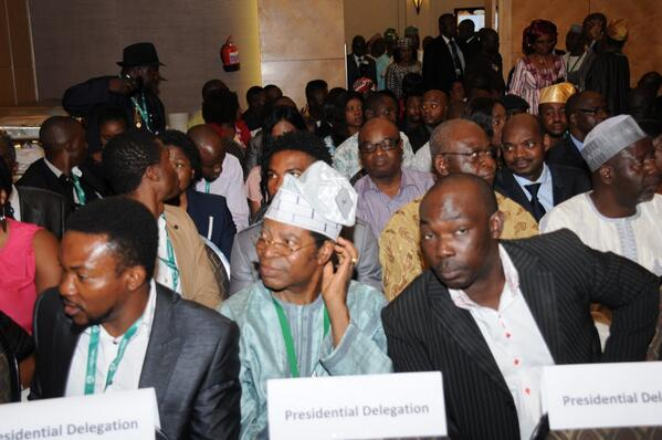 Nigerians at a meeting btw President Jonathan & the Nigerian community in Namibia yday in Windhoek. Photo: Reuben Abati