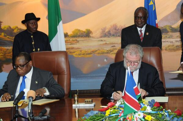 Agreements signed by Nigeria & Namibia include youth devt, BASA, Technical Cooperation, mining,trade etc