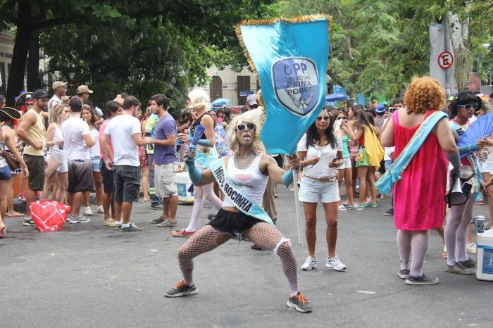 Rio's wild street parties don't have Venice's reputation for elaborate masks and fine fabrics (Photo Credit: Daily Mirror)
