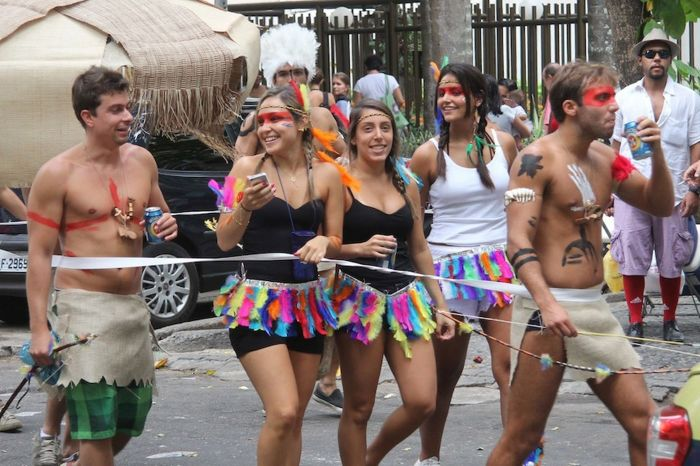 In fact, revellers in Rio tend to wear as little as possible