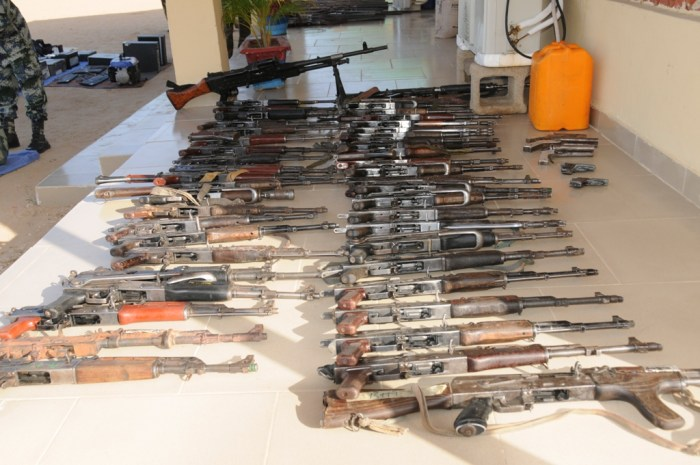 Arms recovered from terrorists