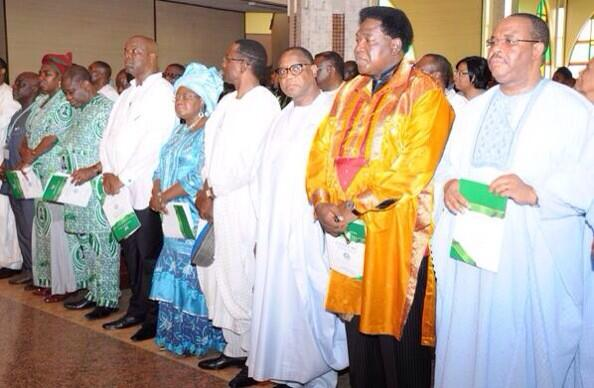 Members of the Executive Council of the Federation at the Interdenominational Centenary service