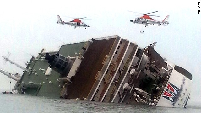 A South Korean ship with over 400 people on board sank off the country's southwestern coast Wednesday. (Photo: CNN)