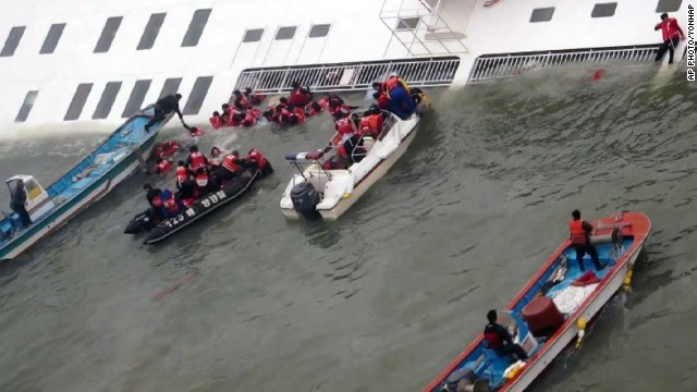 Rescue boats scrambled to pluck passengers from the ferry as it sank into freezing water.(Photo: CNN)