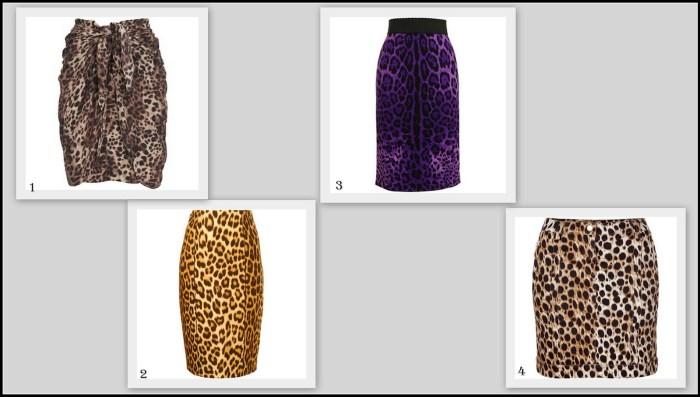leopard pencil skirts- 2012
