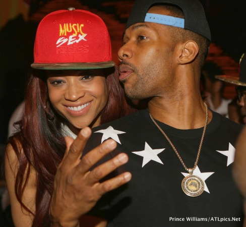 Mimi Faust steps out with her co-sex tape star, Nikko Smith in an Atlanta night club