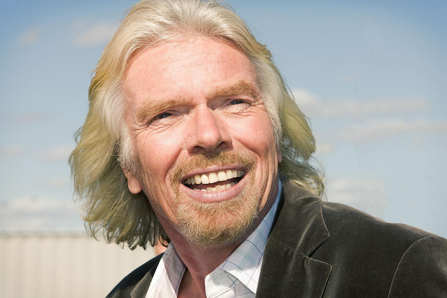 Richard branson naked model