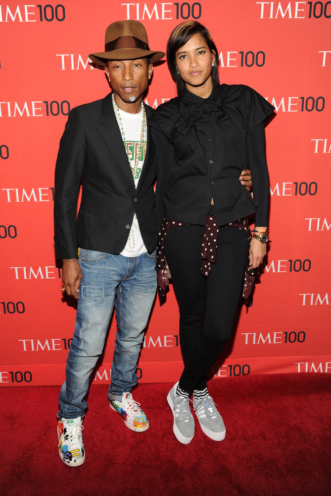 Pharrell Williams and wife, Helen Lasichanh  (Photo Credit: Getty Images)