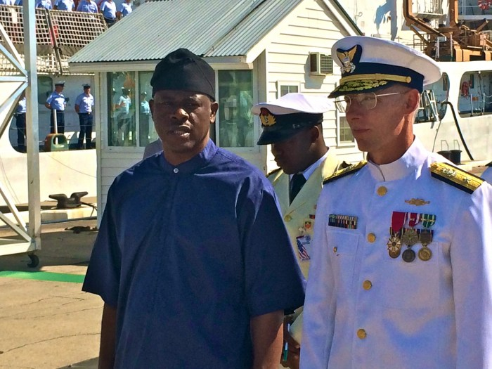 Minister of state for defence, Obanikoro Receives US Naval Vessel for Nigeria