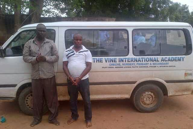 Suspected armed robbers who hijacked The Vine International Academy bus