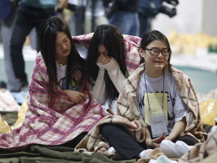 Relatives of victims of the ferry disaster