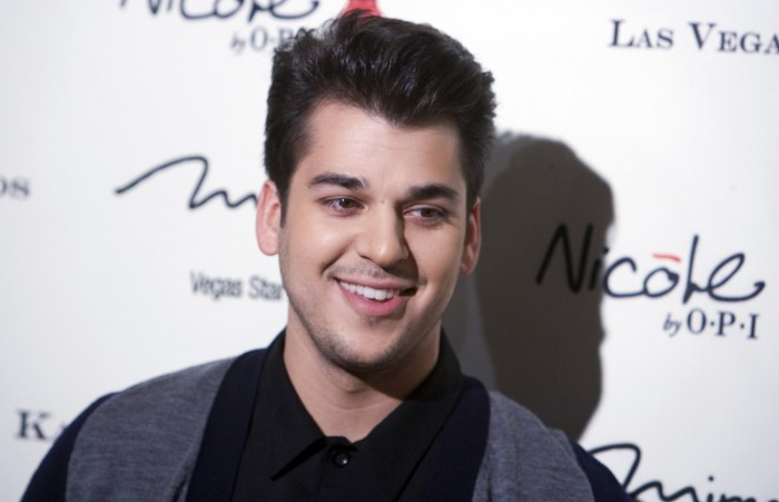 Television personality Rob Kardashian arrives at the opening of the Kardashian Khaos store at the Mirage Hotel and Casino in Las Vegas, Nevada December 15, 2011 | REUTERS/Steve Marcus/Las Vegas Sun