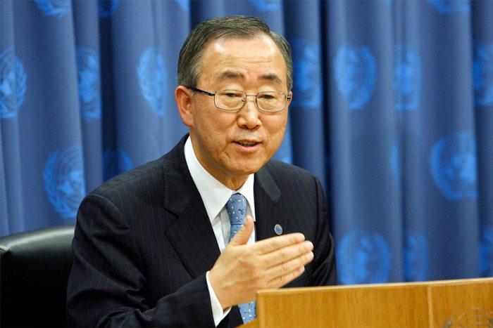 United Nation's Secretary General Ban Ki Moon