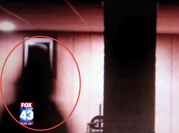 """The mysterious """"shadow man"""" that DeAnna Simpson claims is infesting her home (Photo Credits: WPMT-TV)"""