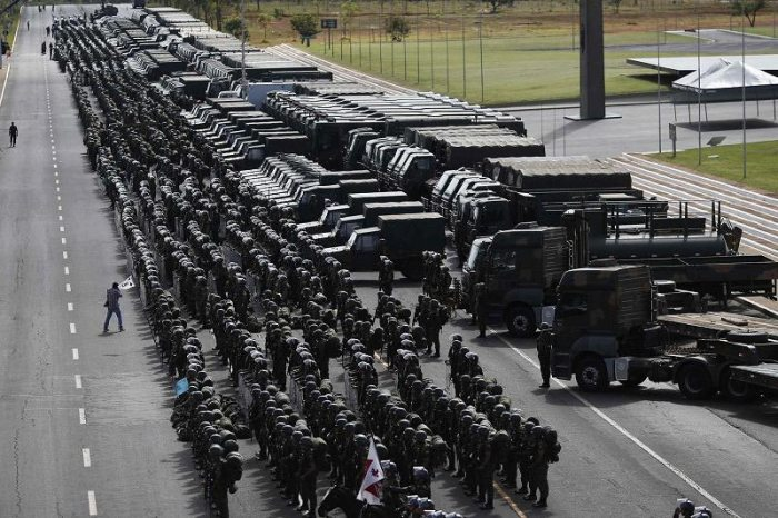 Brazil has taken lengthy security precautions to reduce violence during the World Cup. Source: NBC News