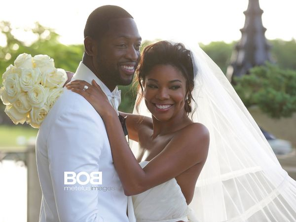 Dwyane Wade and Gabrielle Union wedding on Saturday, August 30, 2014 in Miami (Photo Credit: People Magazine)