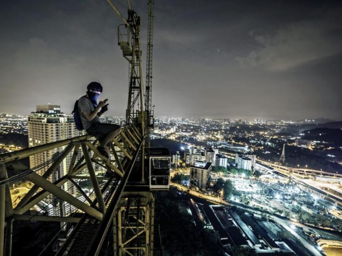 Loong has climbed 'around 40 buildings' since he started actively climbing about a year ago. [Photo Credit: Cater News Agency]