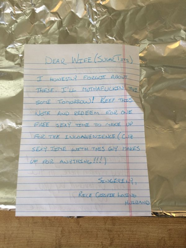 Couple funny note (Photo Credit: Huffington Post)
