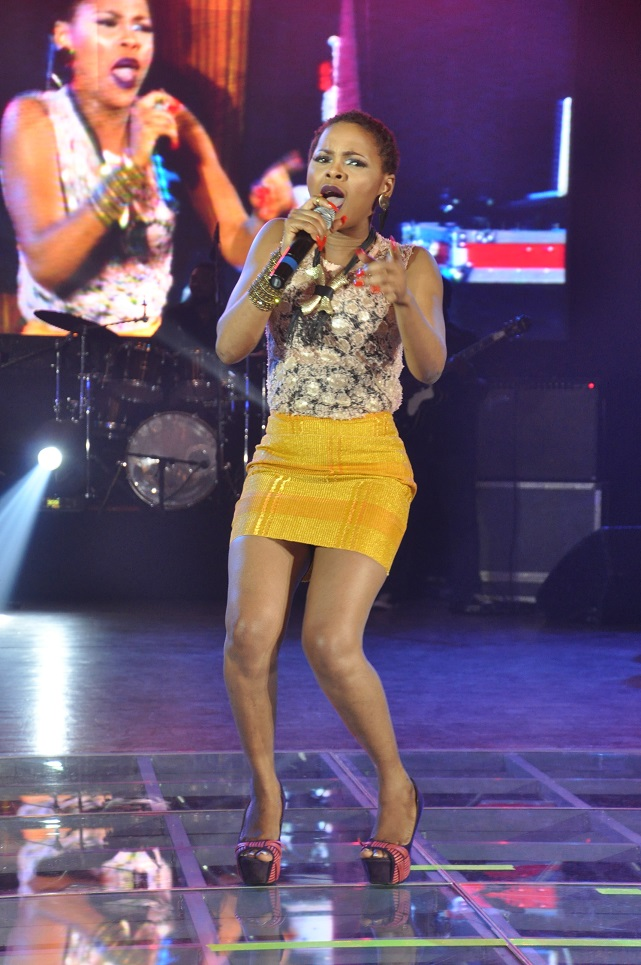 Chidinma performing