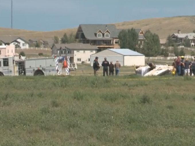 the Plane crashed near Erie airport (Photo Credit: KUSA)