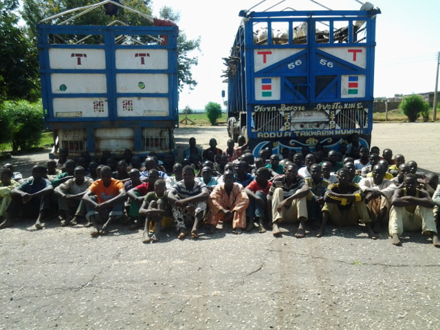 Boko Haram fighters surrender to Nigerian Troops (Defence Headquarters Photo)