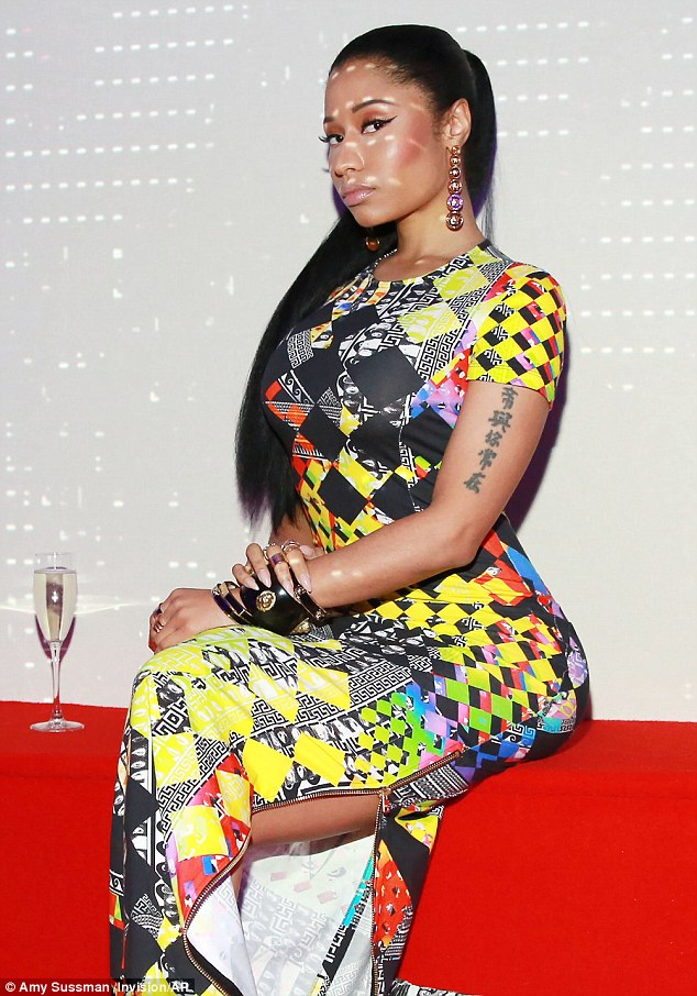 Nicki Minaj at the Versus Versace afterparty as part of New York Fashion Weekly on Sunday, September 7, 2014 (Photo Credit: Mail Online)
