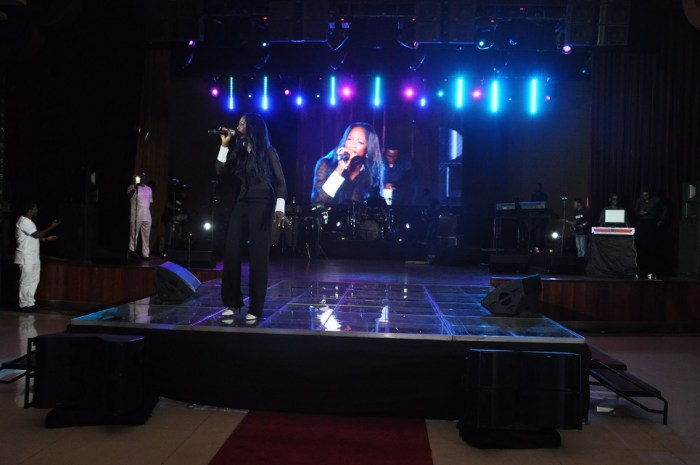 Tiwa Savage performing