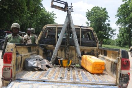 another terrorist recovered vehicle in Konduga