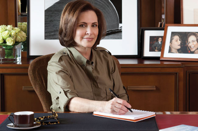 Dr. Peggy Drexler in her Manhattan office (Photo Credit: Hamptons Magazine)