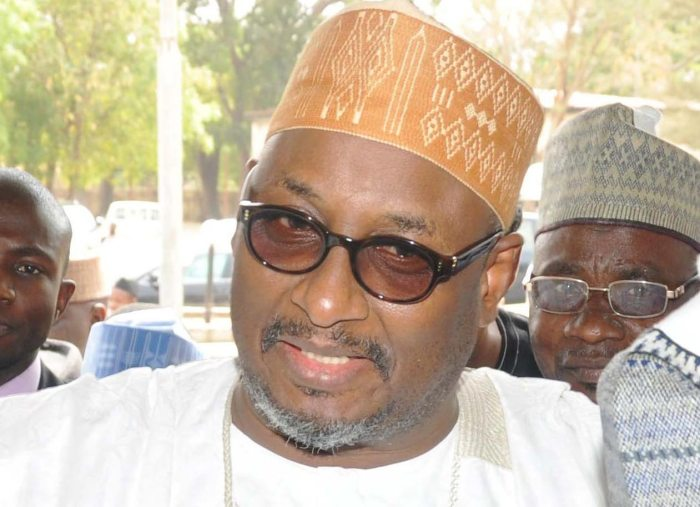 Alhaji Adamu Mu'azu, the National Chairman of the Peoples Democratic Party arrives a civic reception organised in his honour by the Bauchi State Government, February 1, 2014 (Photo Credit: Eagle Online)