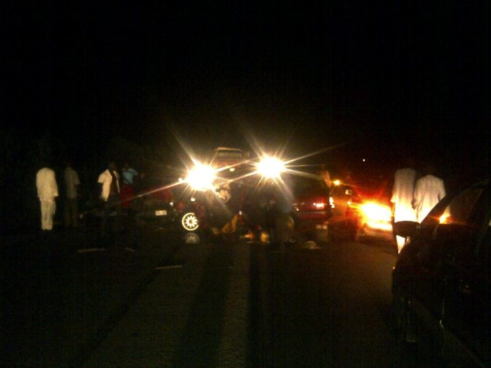 The scene of the accident that took place along Kuje road, Kuje Abuja on Sunday, October 26, 2014. (Photo Credit: Douglas Nwune/The Trent)