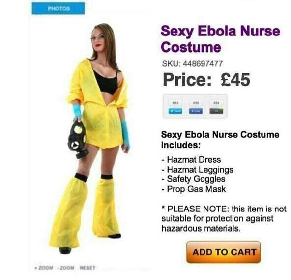 Sexy Ebola Nurse Costume on  sale for Halloween